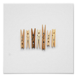 Wooden Clothespins Poster