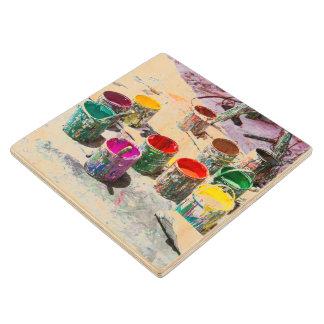 Wooden Coaster - Paints - Venezuela