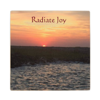 Wooden Coaster - Radiate Joy