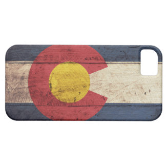 Wooden Colorado Flag iPhone 5 Case