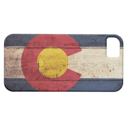 Wooden Colorado Flag iPhone 5 Case
