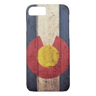 Wooden Colorado Flag iPhone 7 case