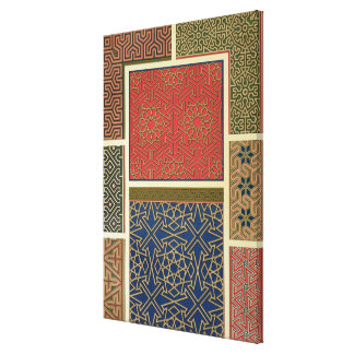 Wooden compartments and borders, from 'Arab Art as Canvas Print