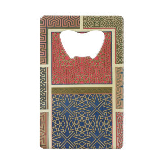 Wooden compartments and borders, from 'Arab Art as Credit Card Bottle Opener