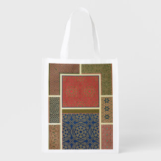 Wooden compartments and borders, from 'Arab Art as Reusable Grocery Bags