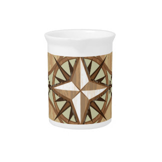 Wooden Compass vector Beverage Pitchers