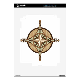 Wooden Compass vector Skins For The iPad 2