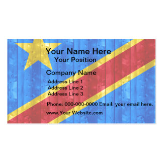 Wooden Congese Flag Business Card Templates