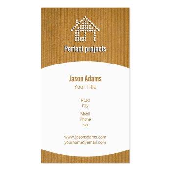 Wooden Construction Business Card