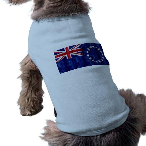 Wooden Cook Island Flag Doggie T-shirt