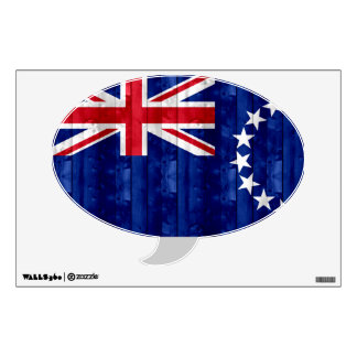 Wooden Cook Island Flag Wall Sticker