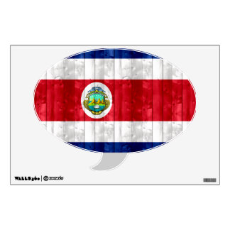 Wooden Costa Rican Flag Wall Decal