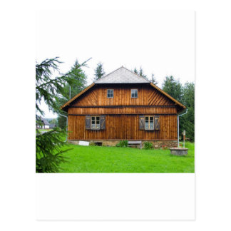 Wooden Cottage In South Bohemia Postcard