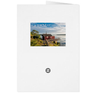 Wooden cottage on the Baltic Sea coast in Sweden Card