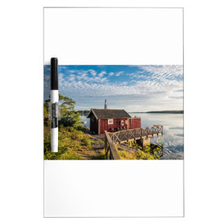 Wooden cottage on the Baltic Sea coast in Sweden Dry-Erase Board