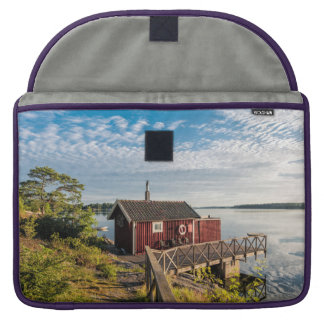 Wooden cottage on the Baltic Sea coast in Sweden MacBook Pro Sleeve