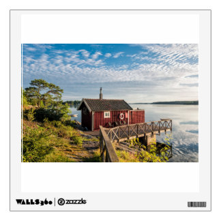 Wooden cottage on the Baltic Sea coast in Sweden Wall Decal