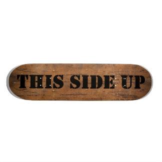 Wooden Crate Skateboard