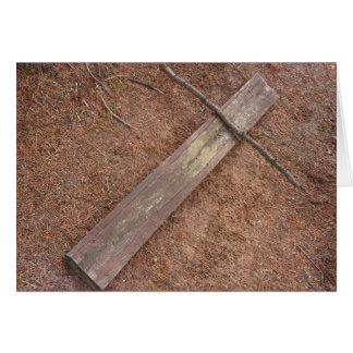 Wooden Cross Card