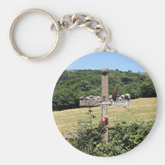 Wooden cross, El Camino, Spain Keychain