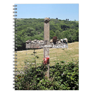 Wooden cross, El Camino, Spain Spiral Notebook