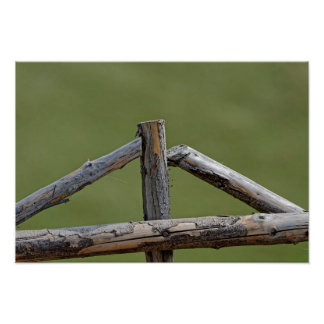 wooden cross fence poster