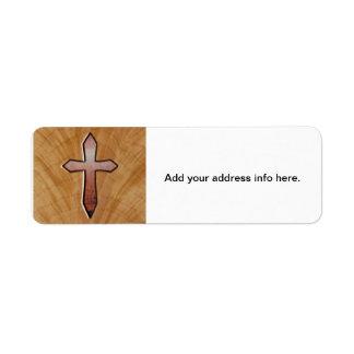 Wooden Cross Label