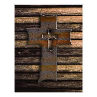 Wooden Cross Letterhead