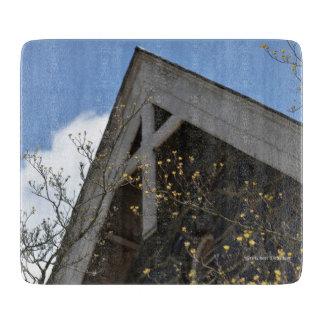 Wooden Cross on Stone Church - Cutting Board