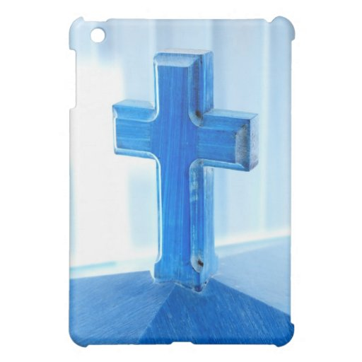 Wooden Cross photograph, blue tint, church Case For The iPad Mini