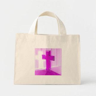 Wooden cross, purple version, photograph church bags