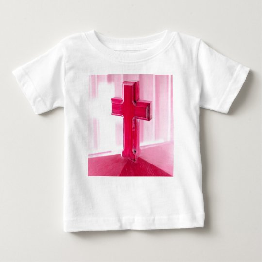 Wooden cross, red version photograph church baby T-Shirt