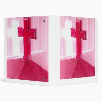 Wooden cross, red version photograph church binders