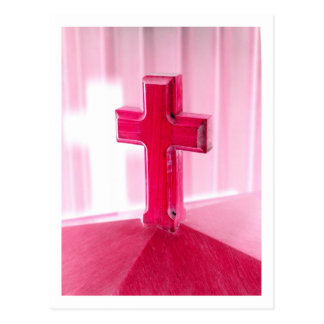 Wooden cross, red version photograph church post cards