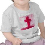 Wooden cross, red version photograph church t-shirt