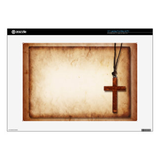 Wooden Cross Decal For Laptop