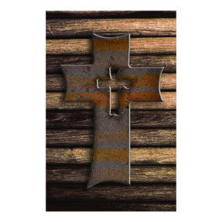 Wooden Cross Stationery