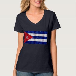Wooden Cuban Flag T-Shirt