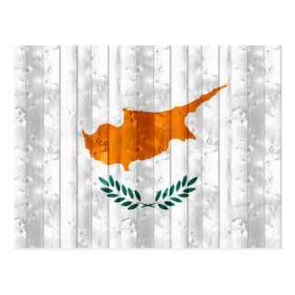 Wooden Cypriot Flag Postcard