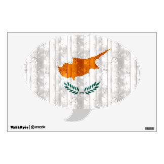 Wooden Cypriot Flag Wall Decal