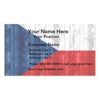 Wooden Czech Flag Business Card Templates