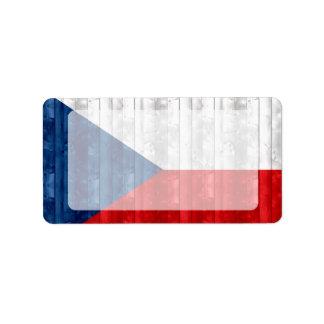 Wooden Czech Flag Label