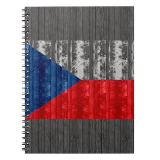 Wooden Czech Flag Notebook