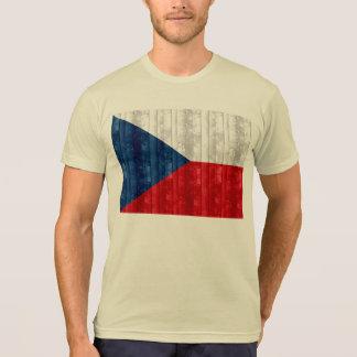 Wooden Czech Flag T-Shirt