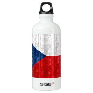 Wooden Czech Flag Water Bottle