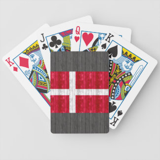 Wooden Danish Flag Bicycle Playing Cards