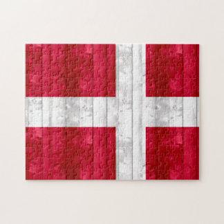 Wooden Danish Flag Jigsaw Puzzle