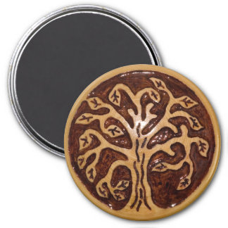 Wooden decor with tree magnet