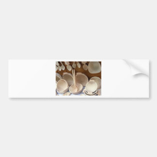 Wooden Dishes Bumper Sticker