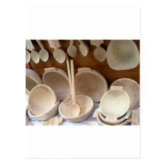 Wooden Dishes Postcard